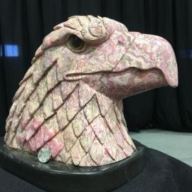 Rhodochrosite Eagle Head